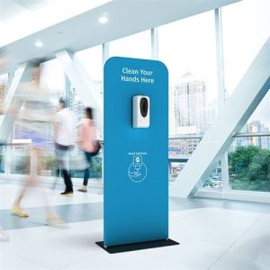 hand sanitizer dispenser station