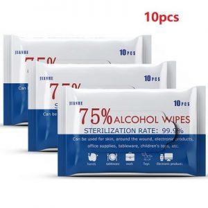 10pcs pocket Alcohol wipes