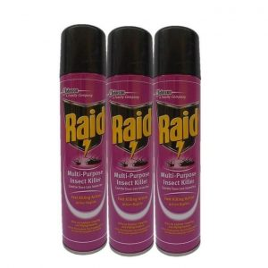 Raid 3 Cans Insect Killer Insecticide - 300ml