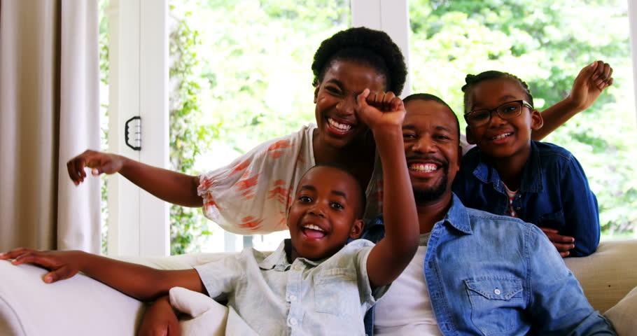 healthy black family