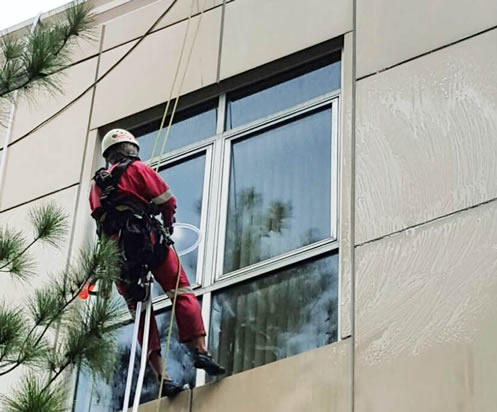 external window facade cleaning