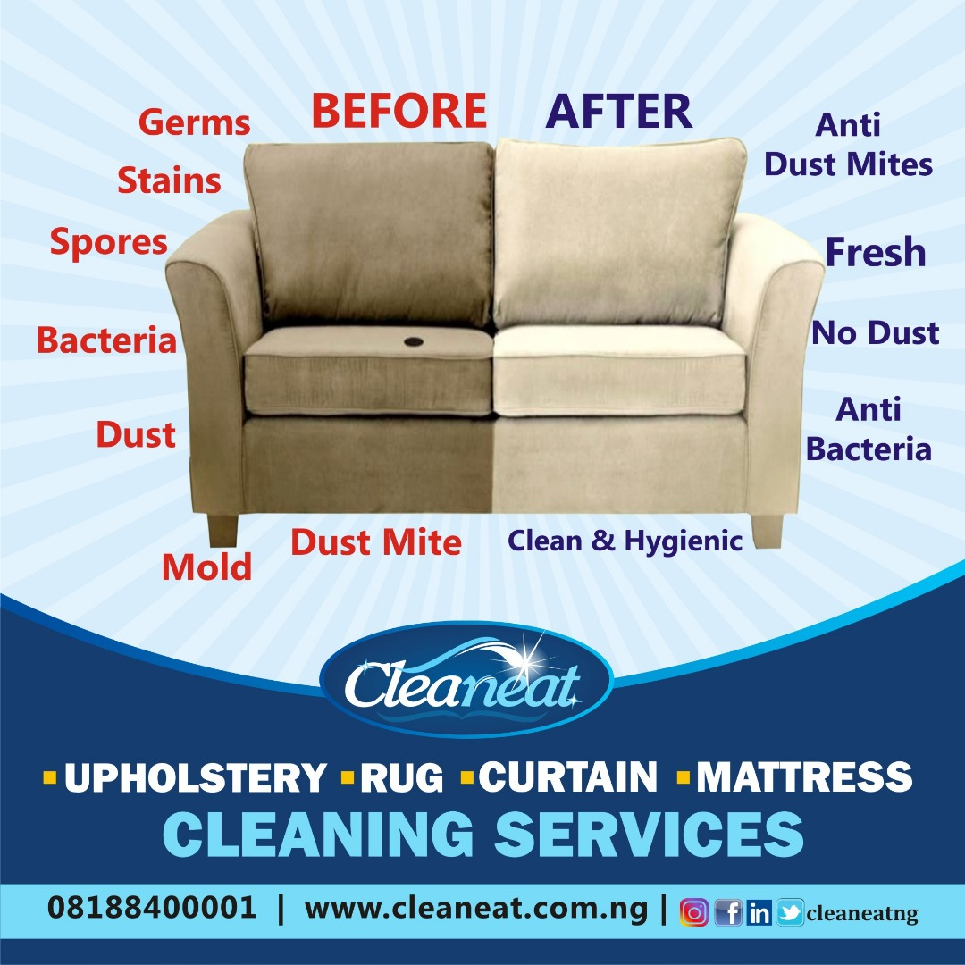sofa rug cleaning experts in Nigeria advert