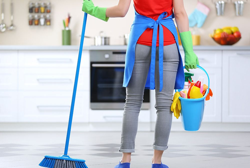 how professionals clean the house