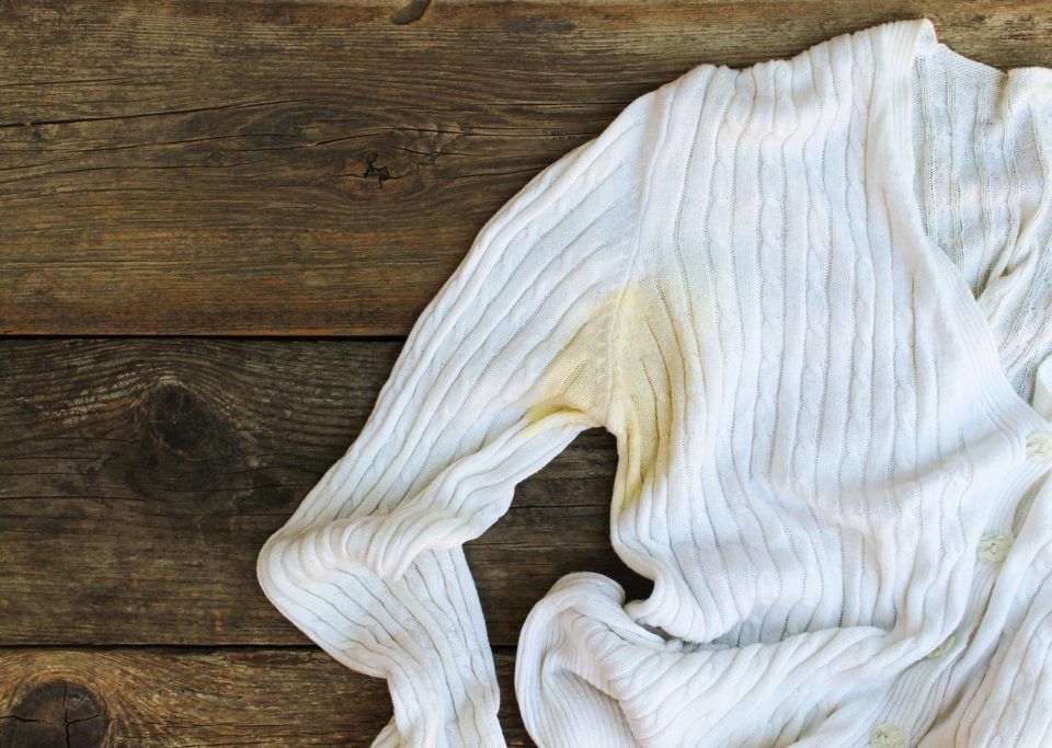 how to get rid of deodorant stains on clothes