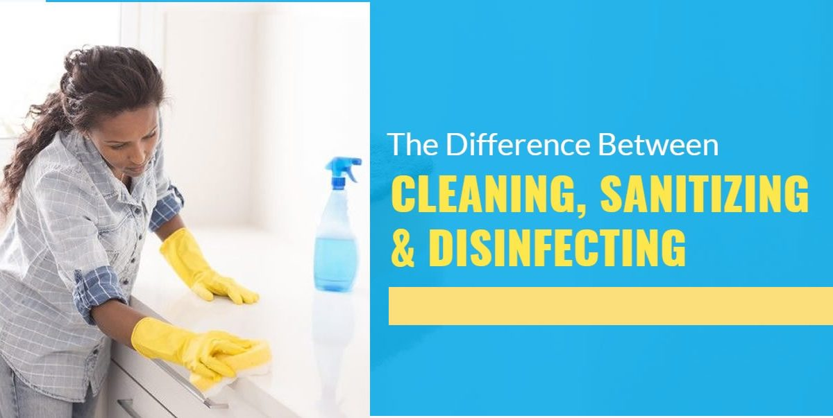 The difference between disinfecting, sanitizing and cleaning
