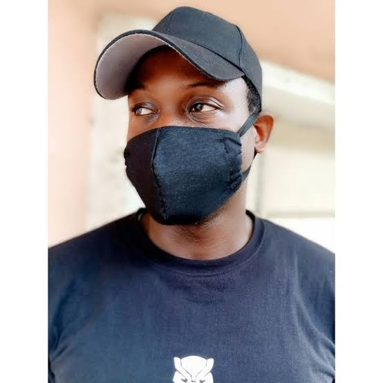Black cotton anti-dust face masks lagos nigeria