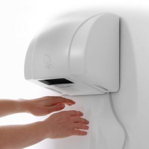 Automatic infra red sensor hand dryer