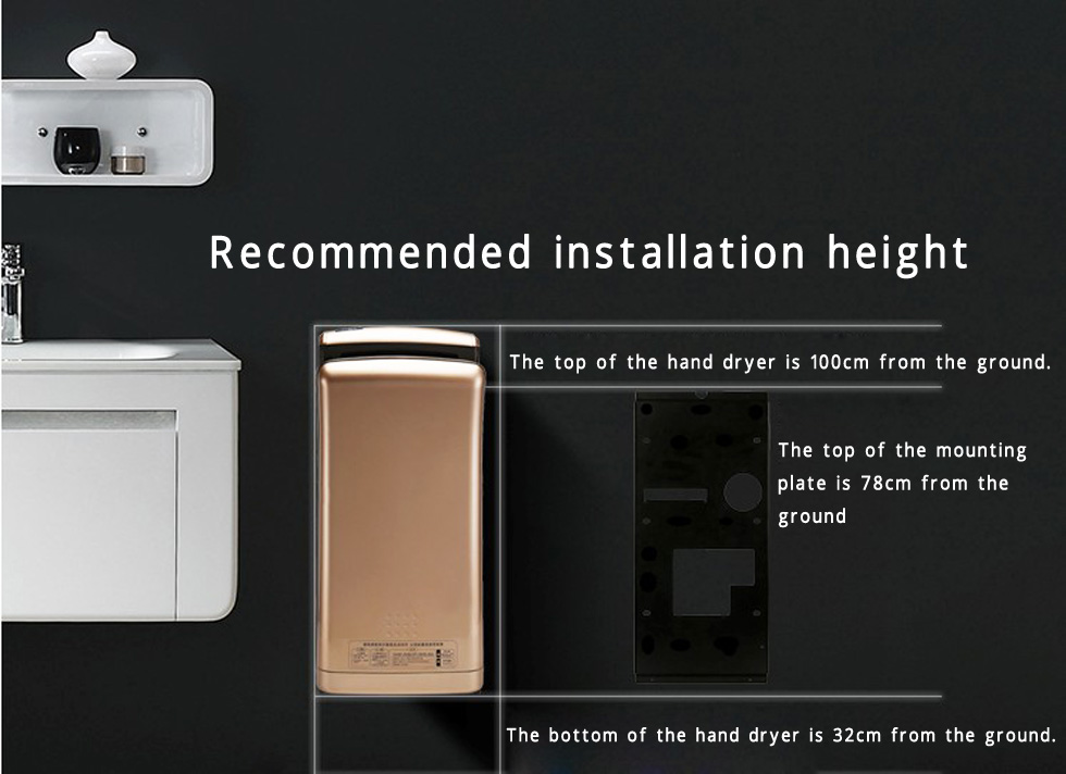 recommended installation height