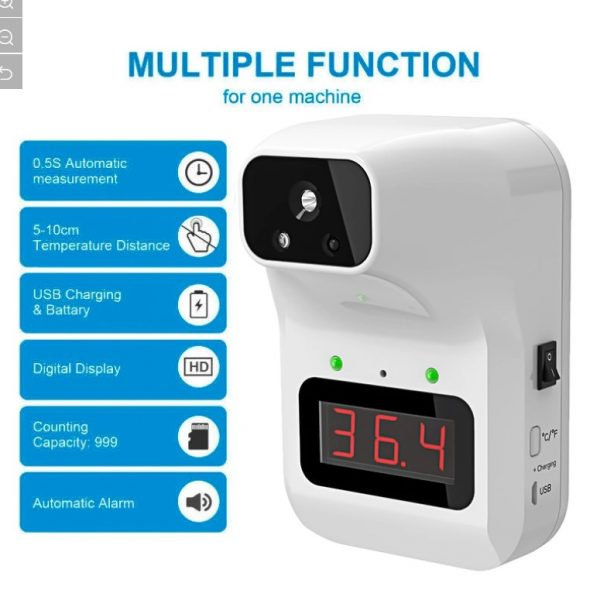 Automatic sensor k3 Wall mount thermometer in lagos Nigeria