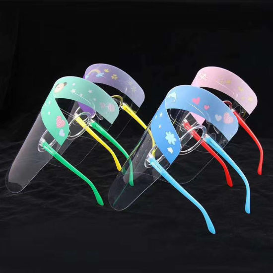 Kids-Children-Protective-Visor-Transparent-Clear-Anti-Fog-Safety-Plastic-Face-Shield-with-Glasses