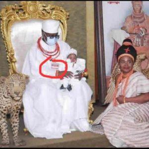 Oba of Benin Wearing Air Doctor