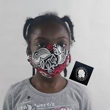 ankara african fabric kids face mask in nigeria
