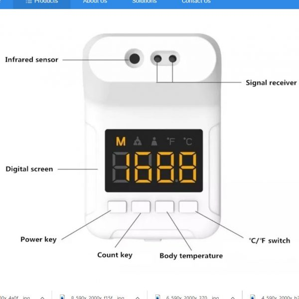 wall automatic thermometer