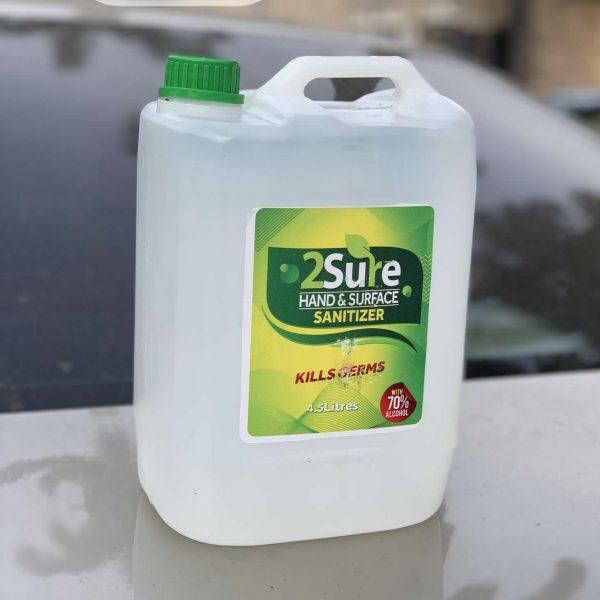 4litres 2 sure sanitizer refill