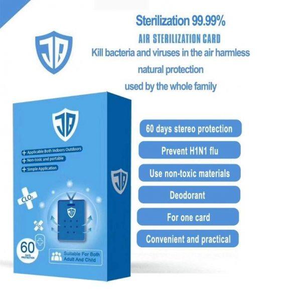 JB air sterilization card blue air doctor