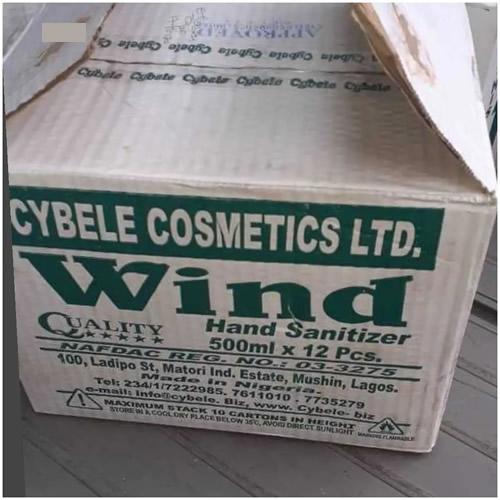 carton of wind hand sanitizer