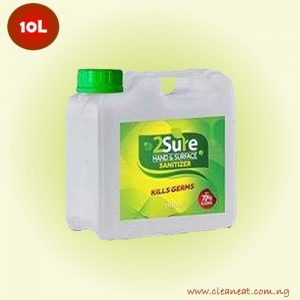 10L 2sure hand sanitizer bulk price lagos nigeria