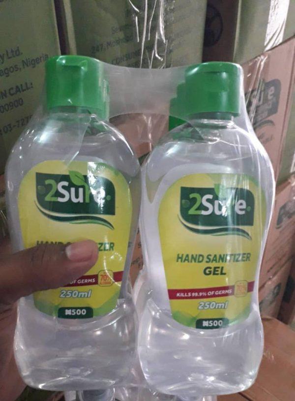 250ml 2sure sanitizer price in lagos
