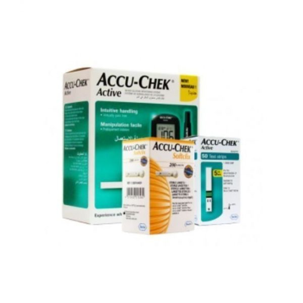 complete pack of accucheck glucometer