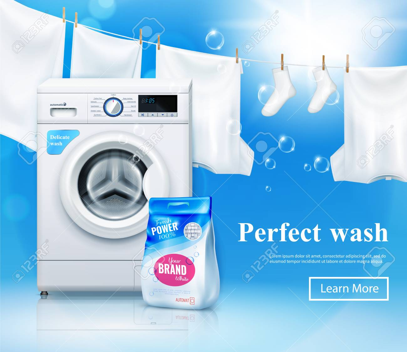 Laundry Detergent Advertising Background