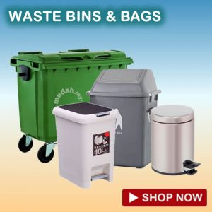 waste bins and trash bags supplies