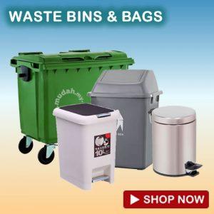 waste bins and trash bags supplies