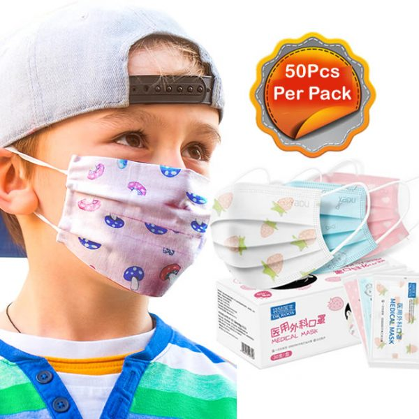50pieces per pack 3Ply cartoon face mask