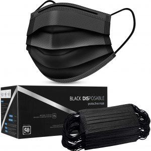 black disposable 3ply face mask price lagos nigeria