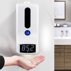 in-Stock-1000ml-Wall-Mounted-Hand-Sanitizer-Dispenser-Thermal-Temp-Measuring-Scanner-Automatic-Room-Wall-Thermometer-K9-lagos-nigeria