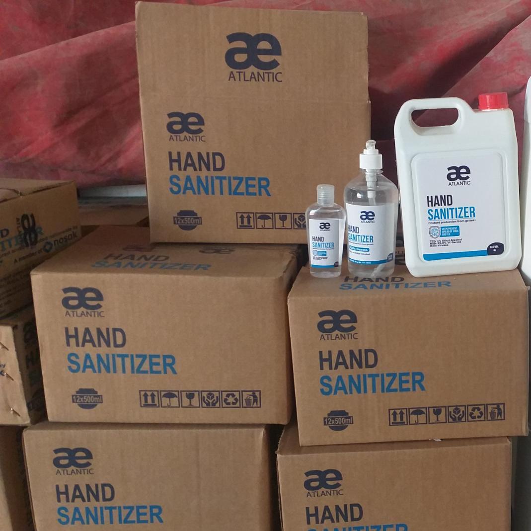 cartons of atlantic sanitizer