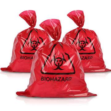 red biohazard medical bags