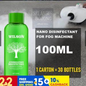fog disinfectant solution bottle