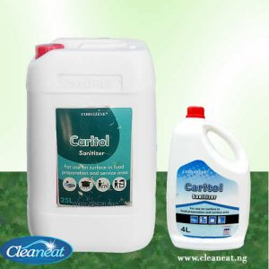 caritol sanitizer 4L and 25liters